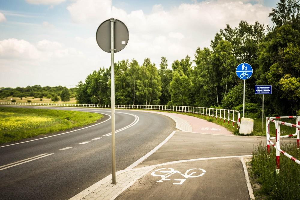 Warpie ścieżka rowerowa