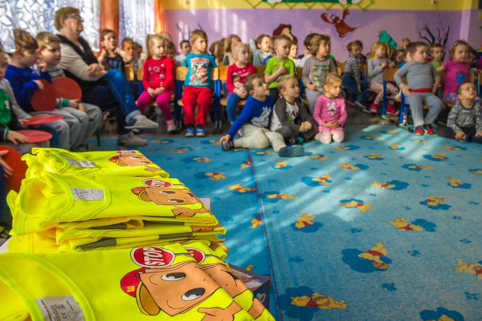 Jaworznickie przedszkolaki bezpieczne na drodze