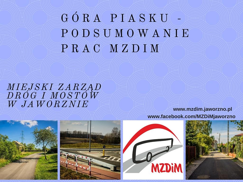 Działania MZDiM na Górze Piasku