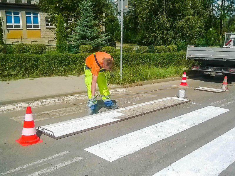 Bezpieczeństwo malowanie pasów Chocimska (Kopiowanie)