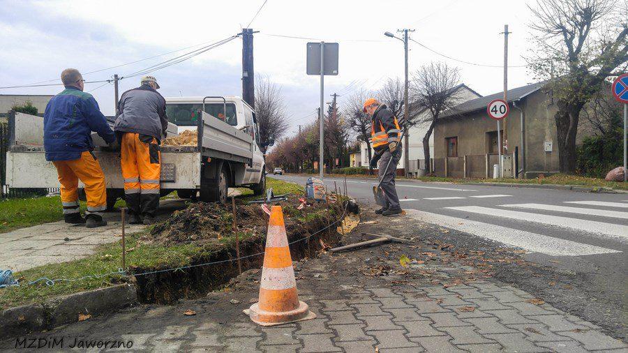 Prace naprawcze infrastruktury chodnikowej ul. Moniuszki