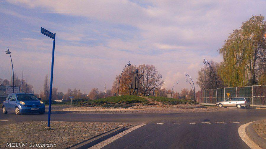 Zieleń nasadzona na Rondzie Drwala