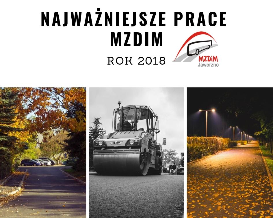 Podsumowanie najważniejszych prac MZDiM w roku 2018